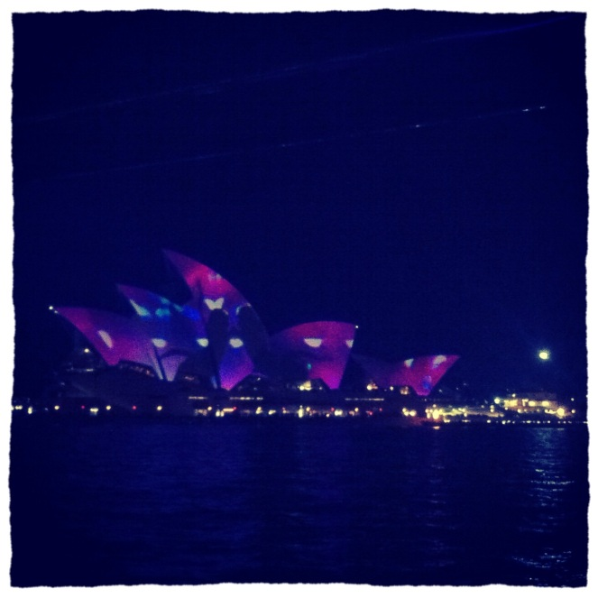Sydney Opera House during Vivid Light Festival 2013.