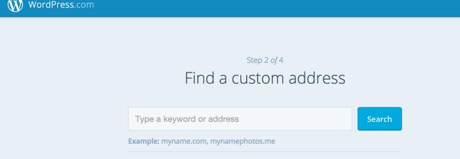 Step 2 WordPress.com